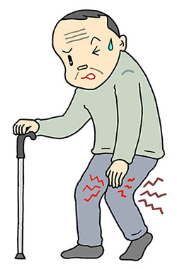 歩き始めや立ち上がりの際に膝関節が痛む変形性膝関節症